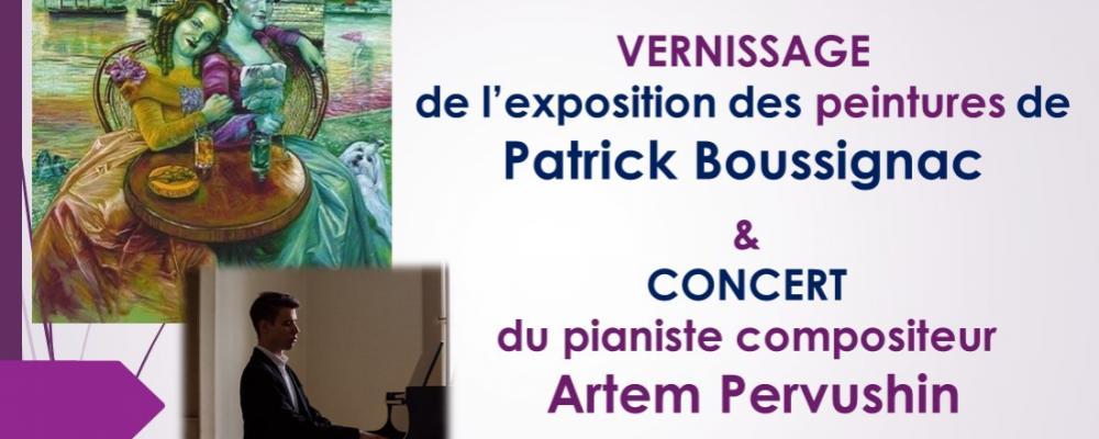 Récital de Piano et vernissage le dimanche 1er mars à 17h au chateau de coudrée a Sciez