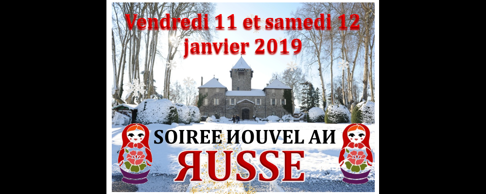 New year party with Russian menu and music at Chateau de Coudree Geneva lakeside